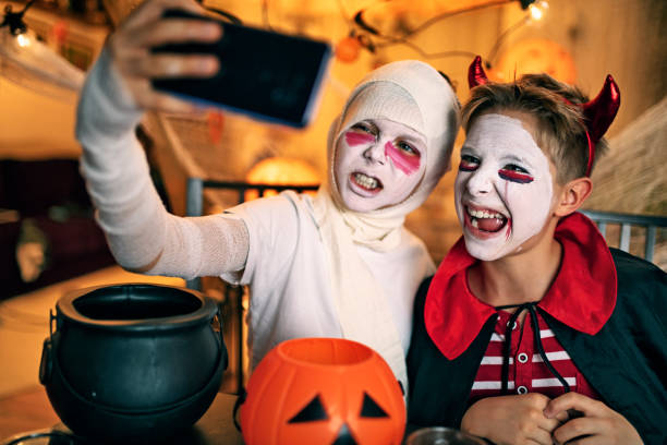 "Decorate your social media profiles ""Halloween social media engagement"""