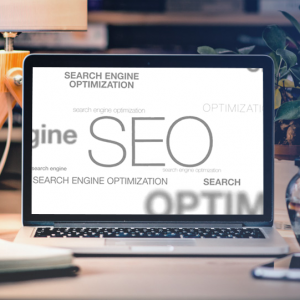 Evolutions of SEO and Working Voices mockup
