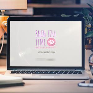 Shih Tzu time Logo reveal mockup