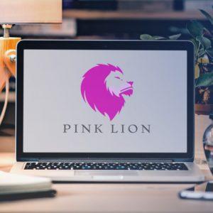 pink lion mockup